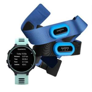 Garmin Forerunner 735XT Midnight blue & Frost blue Tri Bundle 010-01614-10