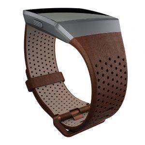 Hodinky Fitbit Ionic Leather Cognac L