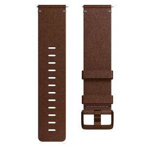 Hodinky Fitbit Versa Leather Cognac L
